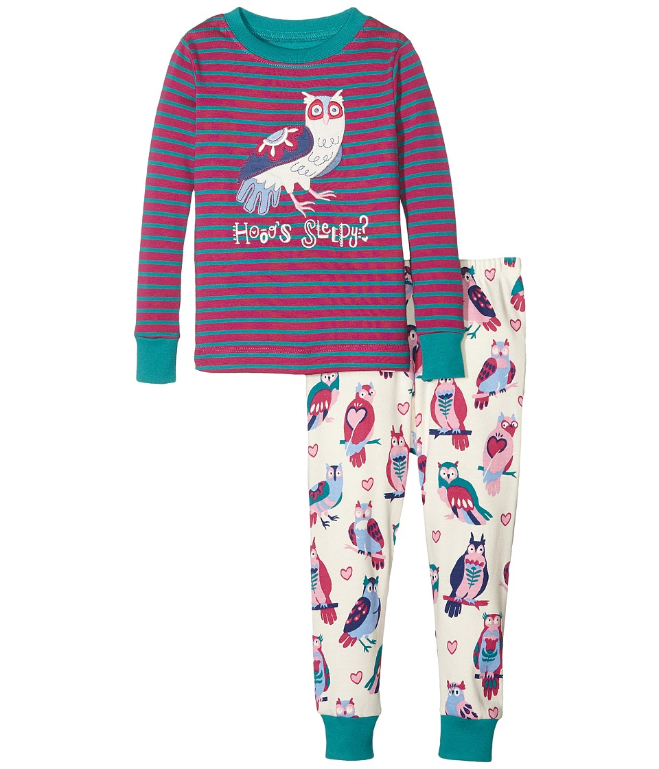 Hatley Kids - Happy Owls Pajama Set (Toddler/Little Kids/Big Kids) (Purple) Girl's Pajama Sets