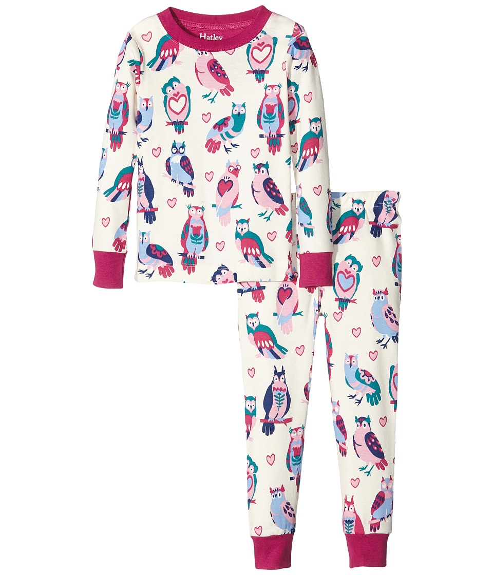 Hatley Kids - Happy Owls Pajama Set (Toddler/Little Kids/Big Kids) (Natural) Girl's Pajama Sets