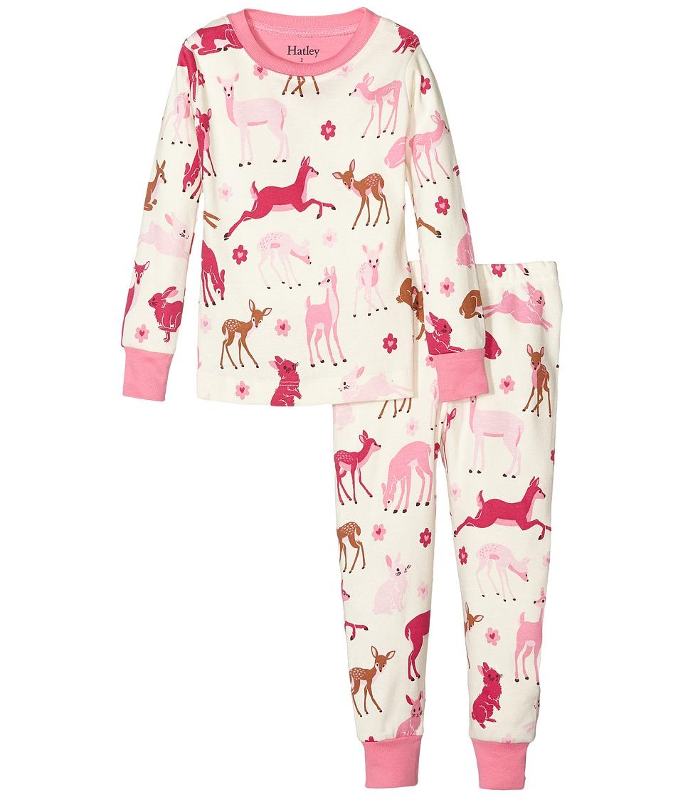 Hatley Kids - Deer and Bunnies Pajama Set (Toddler/Little Kids/Big Kids) (Natural) Girl's Pajama Sets
