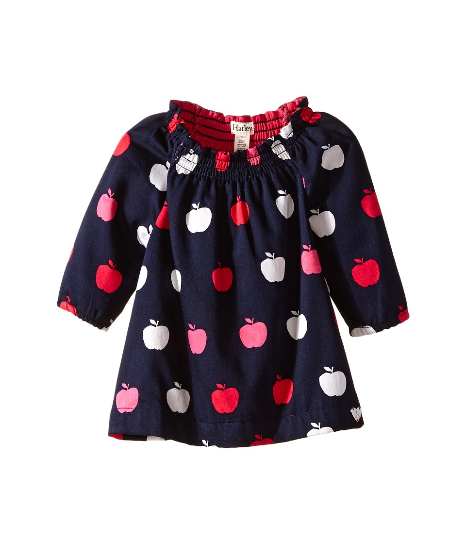 Hatley Kids - Nordic Apples Smocked Neck Dress (Infant) (Blue) Girl's Dress