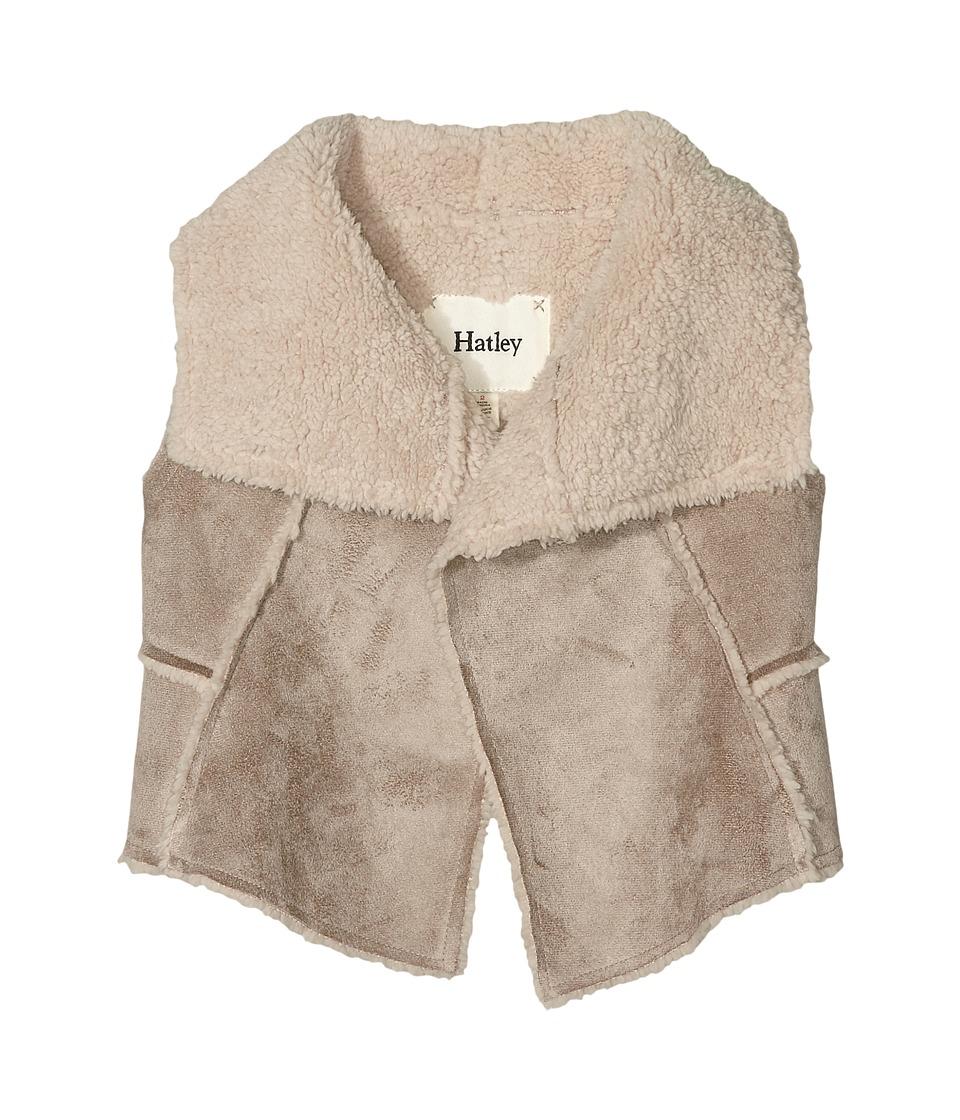Hatley Kids - Reversible Faux Sherling Vest (Toddler/Little Kids/Big Kids) (Brown) Girl's Vest