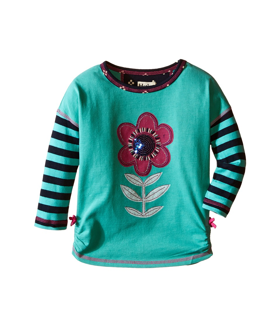 Hatley Kids - Nordic Flowers Graphic Tee (Toddler/Little Kids/Big Kids) (Aqua) Girl's T Shirt