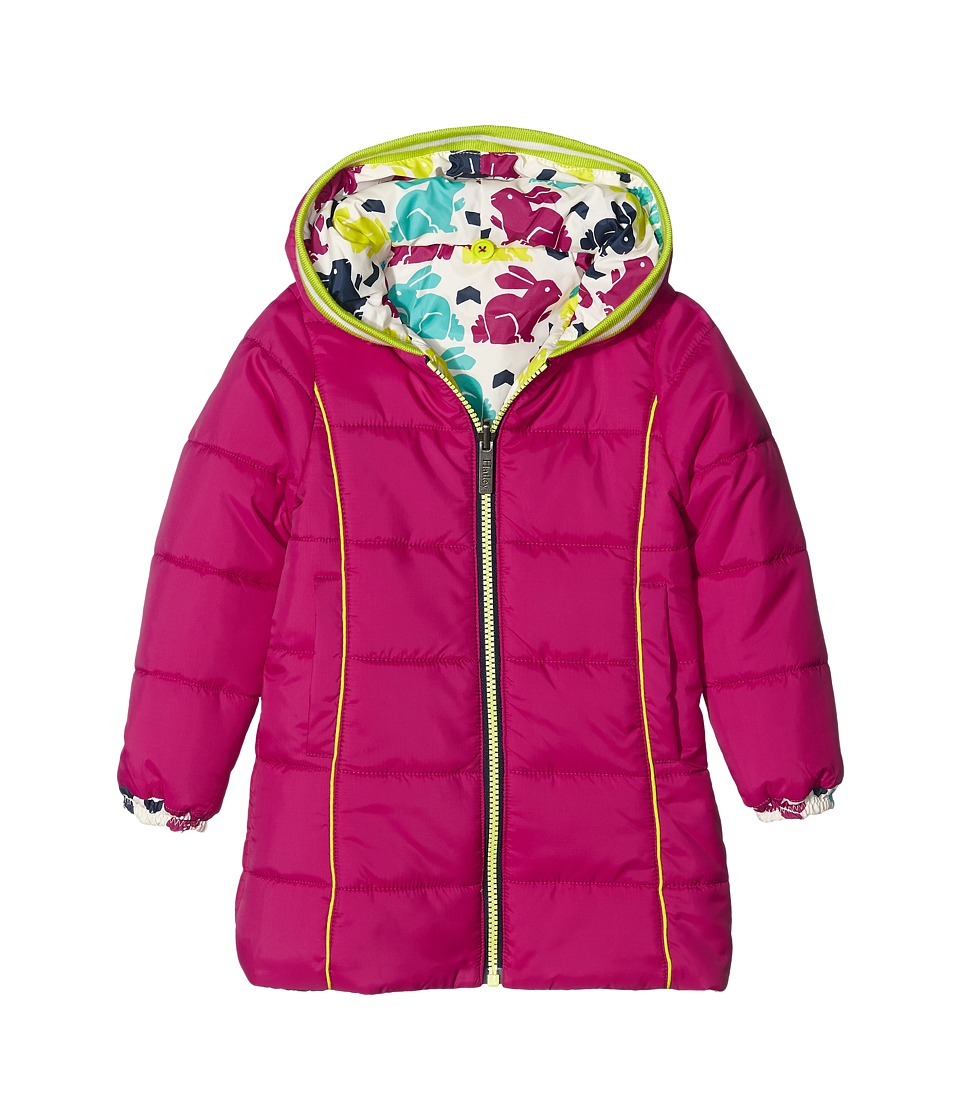 Hatley Kids - Nordic Bunnies Reversible Winter Puffer (Toddler/Little Kids/Big Kids) (White) Girl's Coat