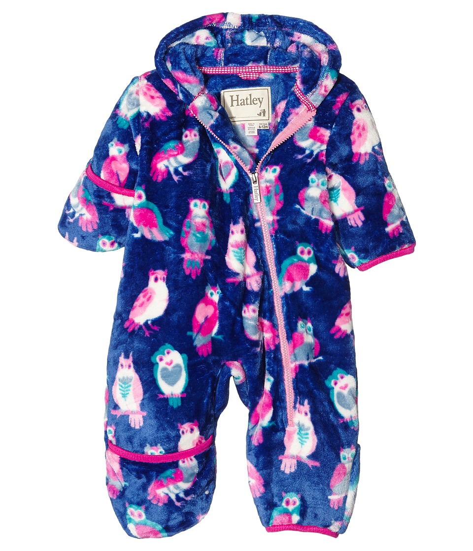 Hatley Kids - Happy Owls Fuzzy Fleece Bundler (Infant) (Purple) Girl's Clothing