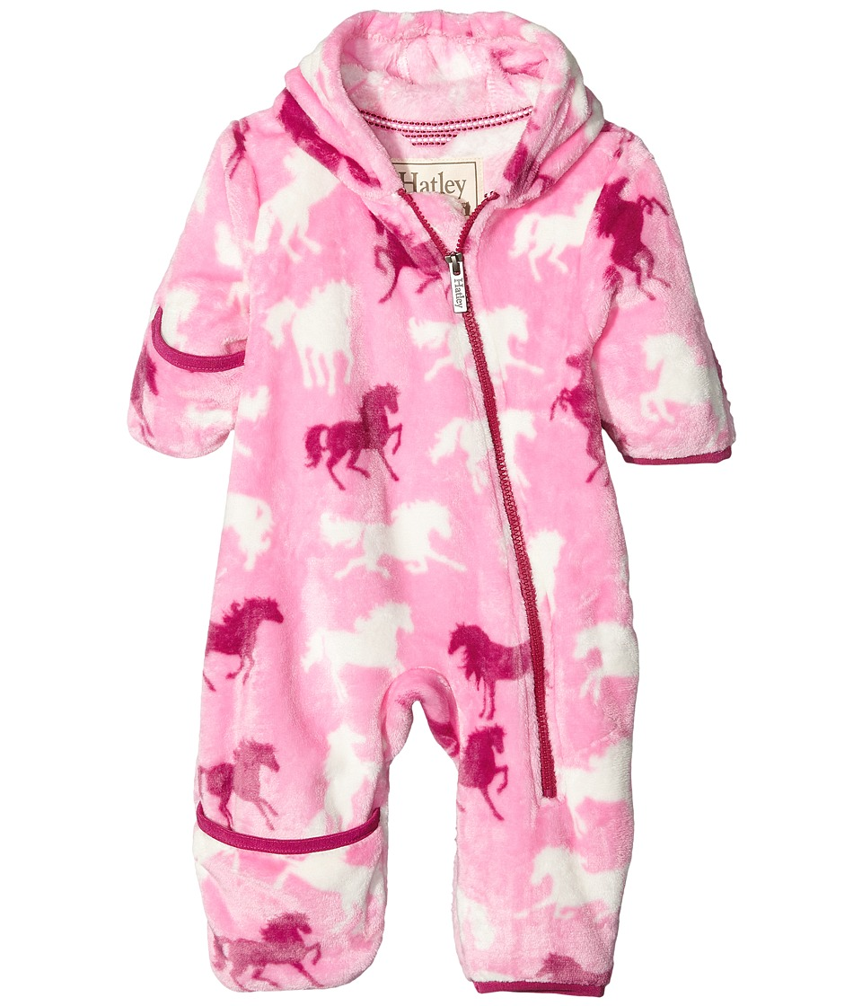 Hatley Kids - Fairy Tale Horses Fuzzy Fleece Bundler (Infant) (Pink) Girl's Clothing