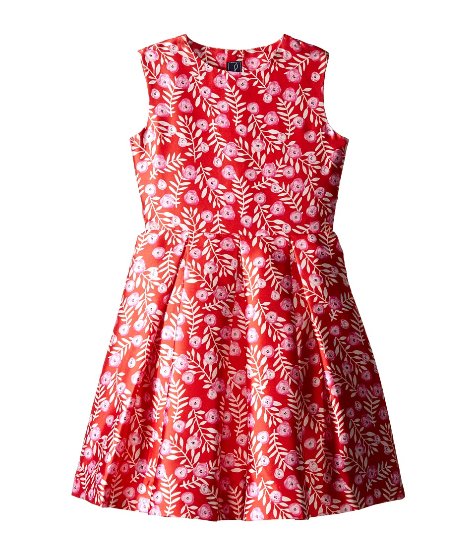 Oscar de la Renta Childrenswear - Petite Roses Mikado Party Dress (Toddler/Little Kids/Big Kids) (Ruby/Fuchsia) Girl's Dress
