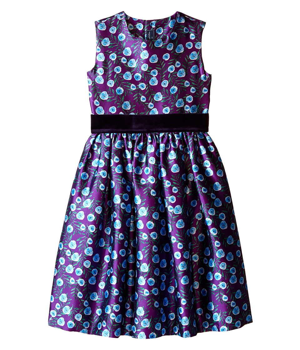 Oscar de la Renta Childrenswear Petite Roses Mikado Party Dress (Toddler/Little Kids/Big Kids) (Ultraviolet) Girl