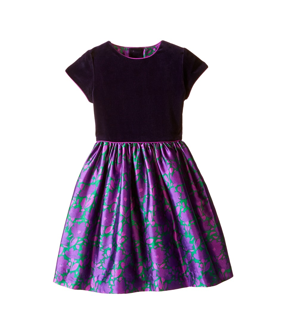 Oscar de la Renta Childrenswear Brushstroke Fleur Mikado Dress