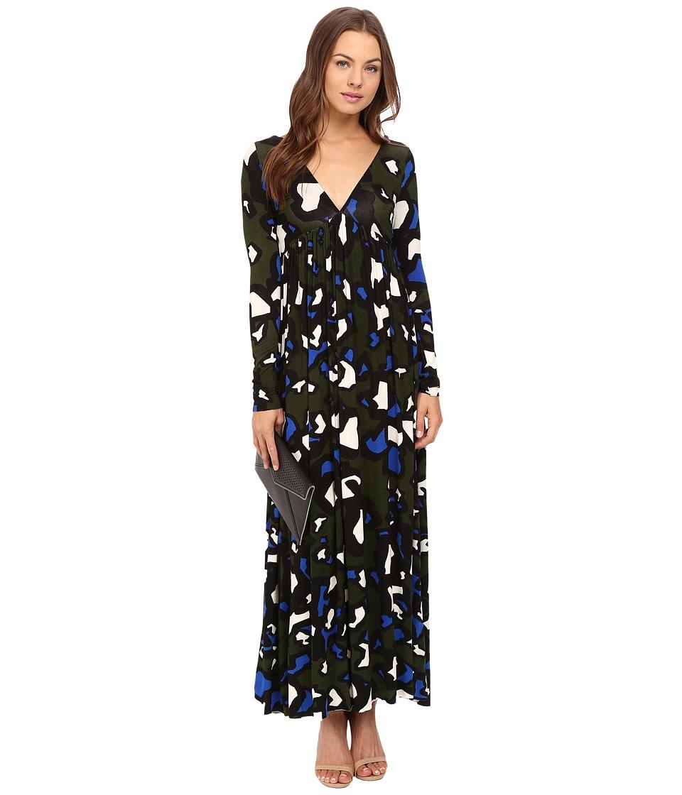 Clayton - Julienne Dress (Olive Animal) Women's Dress