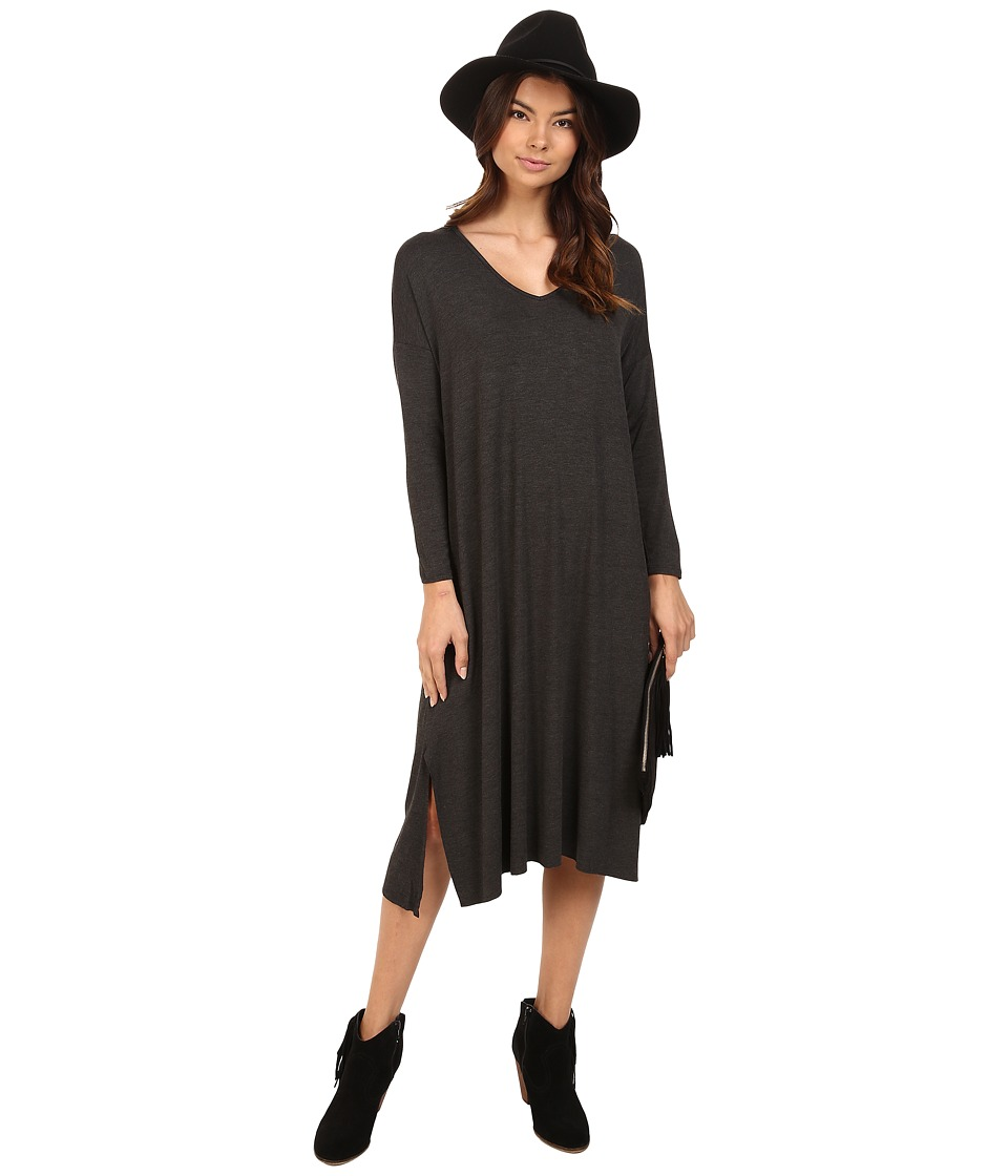 Clayton - Long Sleeve Gwen Dress (Charcoal) Women's Dress