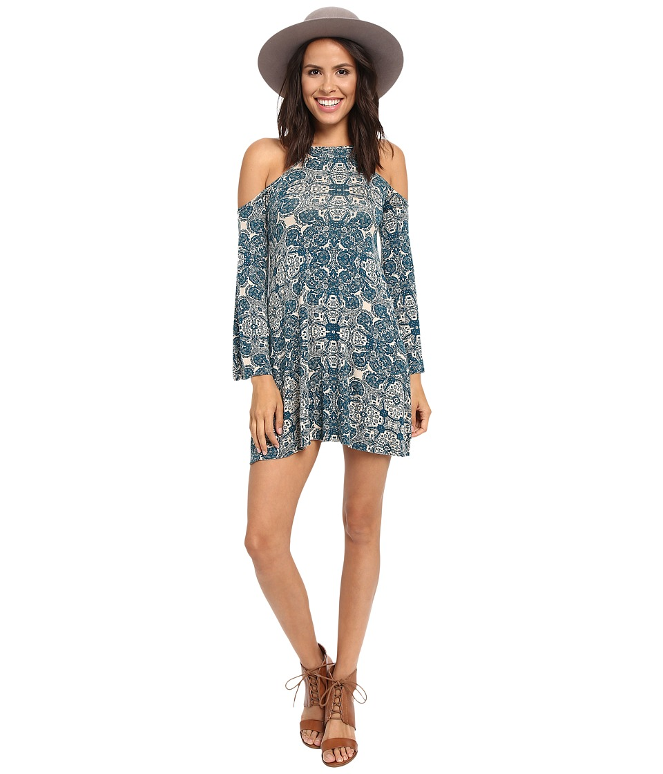 Clayton - Everly Dress (Teal Fleur) Women's Dress