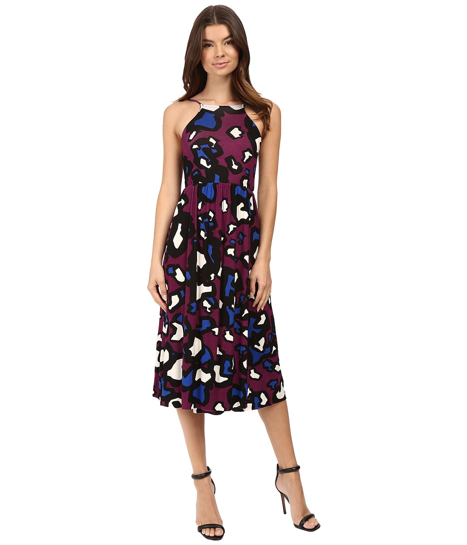 Clayton - Leona Dress (Claret Animal) Women's Dress