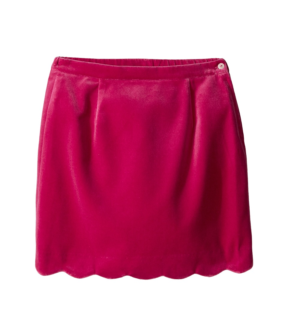 Oscar de la Renta Childrenswear - Watercolor Scallop Skirt (Toddler/Little Kids/Big Kids) (Fuchsia) Girl's Skirt
