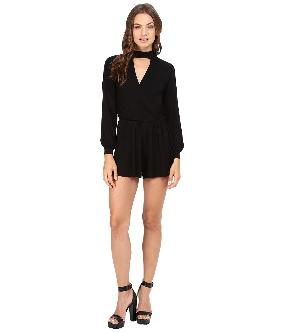 Clayton - Wander Playsuit (Black) Women's Jumpsuit & Rompers One Piece