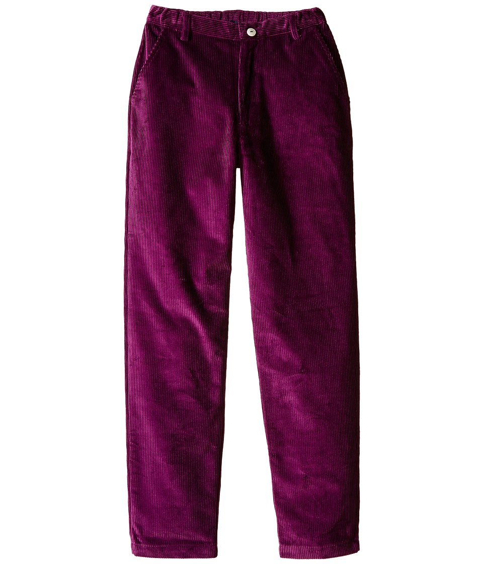Oscar de la Renta Childrenswear - Corduroy Classic Slim Pants (Toddler/Little Kids/Big Kids) (Ultraviolet) Boy's Casual Pants