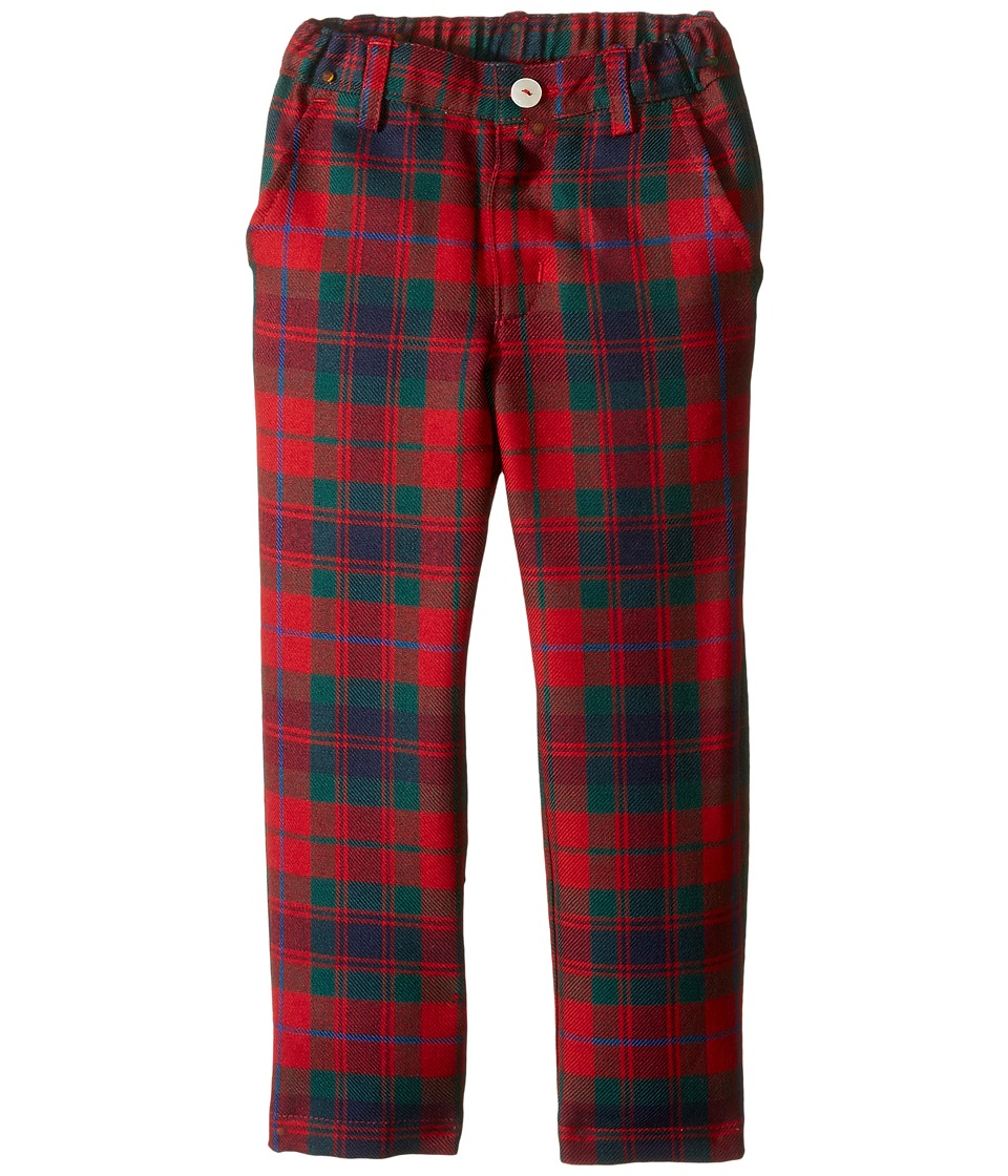 Oscar de la Renta Childrenswear - Holiday Plaid Wool Classic Slim Pants (Toddler/Little Kids/Big Kids) (Ruby Multi) Boy's Casual Pants