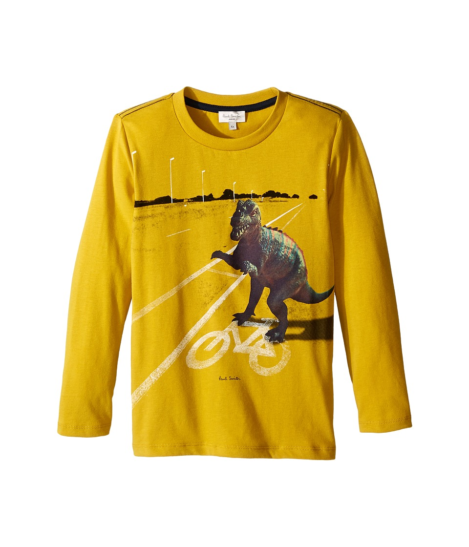 Paul Smith Junior - Dino Printed Tee Shirt (Toddler/Little Kids) (Mustard) Boy's T Shirt