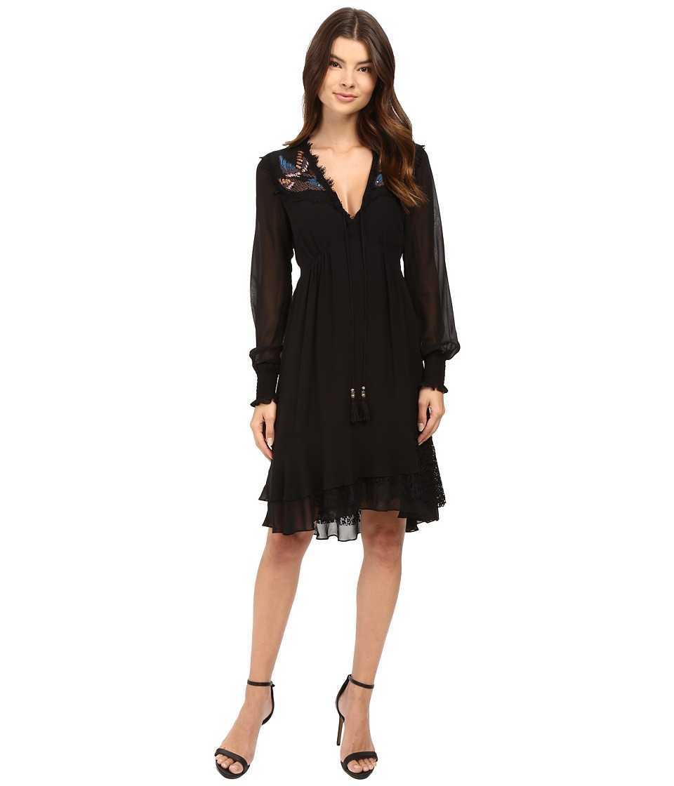 Nanette Lepore Fly Free Frock Black Dress