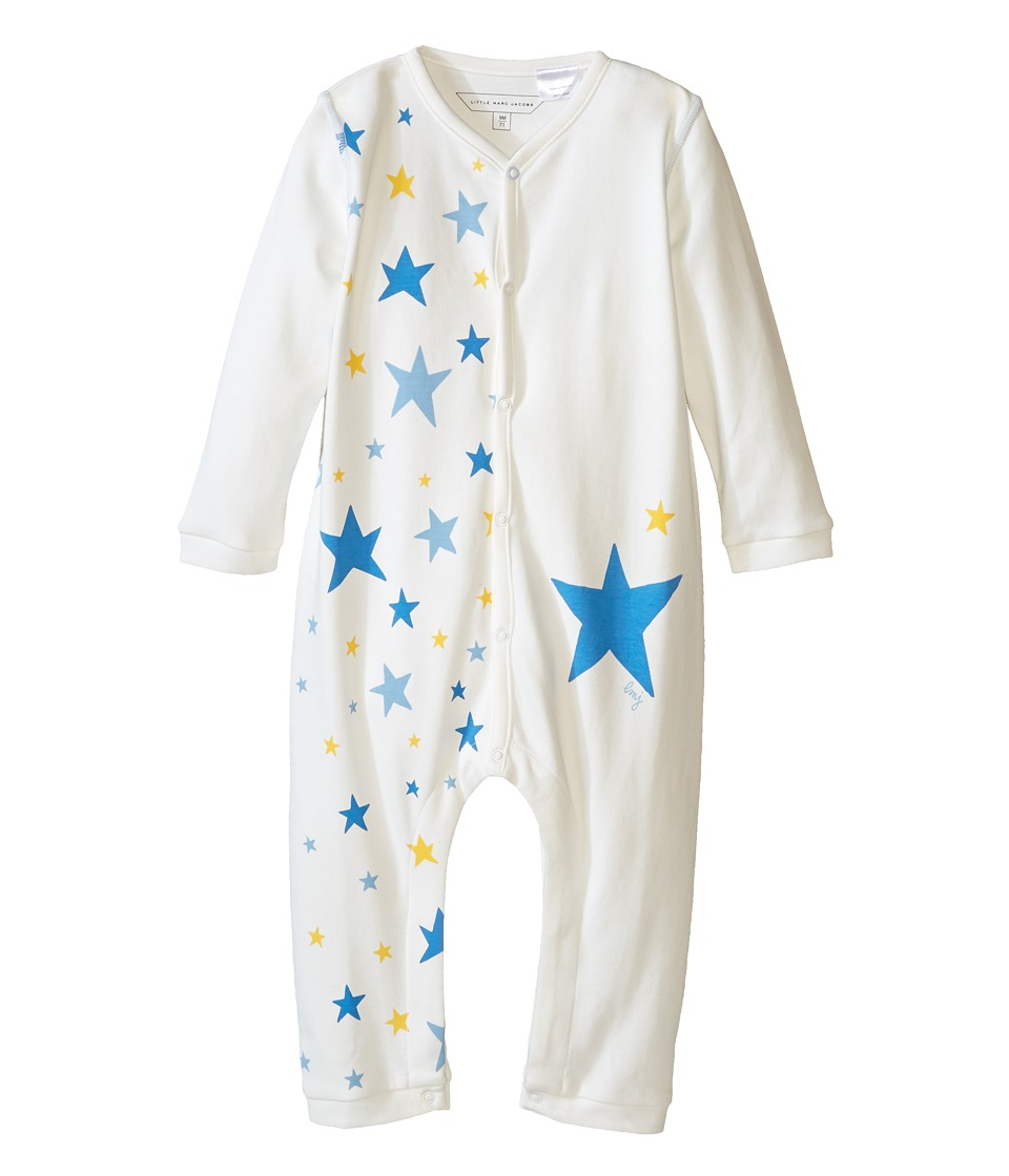 Little Marc Jacobs - Cotton Stars Print Bodysuit (Infant) (Off-White) Girl's Jumpsuit & Rompers One Piece