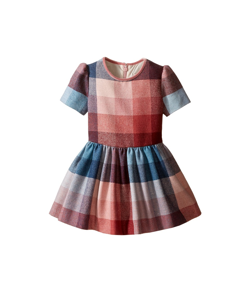 Paul Smith Junior - Pink Blue Plaid Dress (Toddler/Little Kids) (Multicolor) Girl's Dress