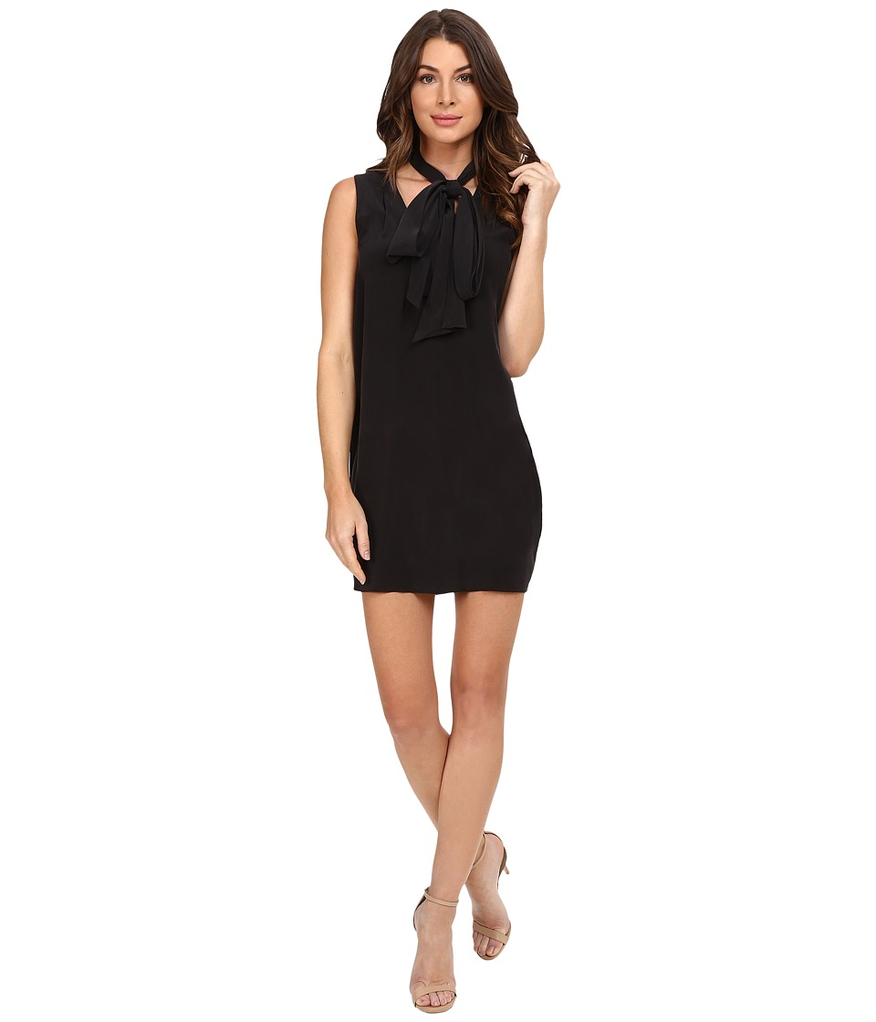 EQUIPMENT - Phaedra Tie Neck Dress (True Black) Women's Dress