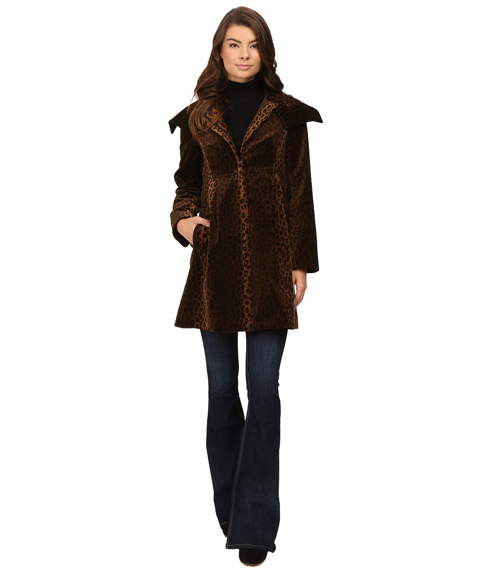 Nanette Lepore - Lush Leopard Coat (Brown/Black) Women's Coat