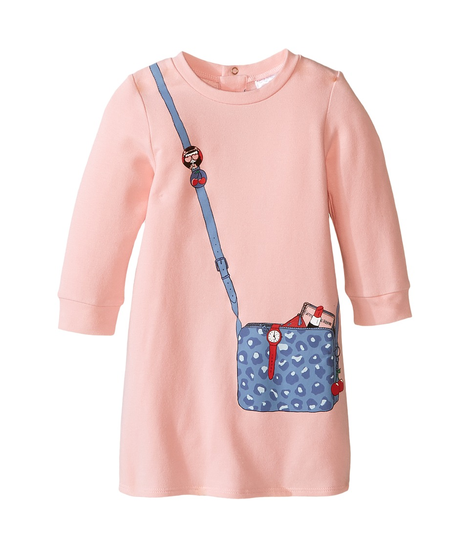 Little Marc Jacobs - Long Sleeve Essential Jersey Modal Dress (Infant) (Rose Givre) Girl's Dress