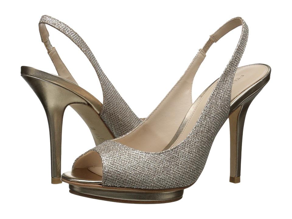 Pelle Moda Rivka (Platinum Gold Metallic Textile) High Heels
