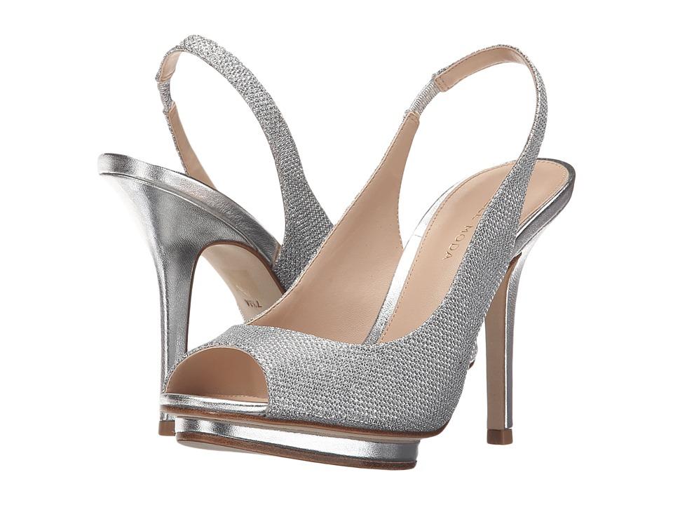 Pelle Moda - Rivka (Silver Metallic Textile) High Heels