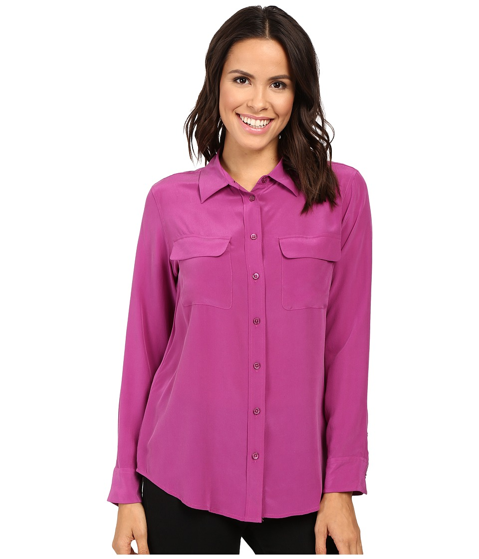 EQUIPMENT - Slim Signature Blouse (Hollyhock) Women's Blouse