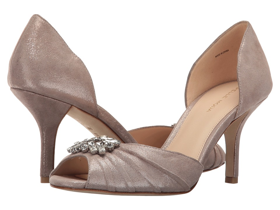 Pelle Moda Ilan (Taupe Shimmer Suede) High Heels