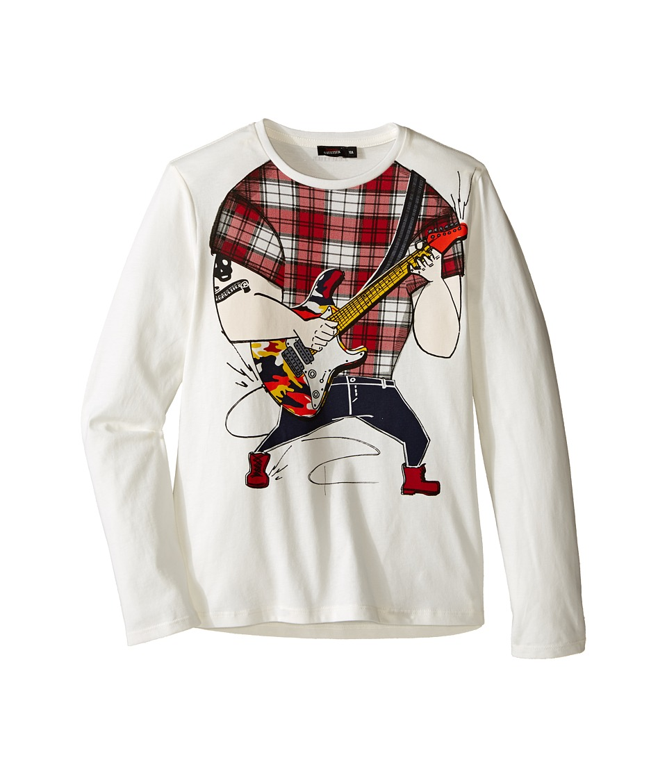 Junior Gaultier - Guitarist No Head Tee Shirt (Big Kids) (Cream) Boy's T Shirt