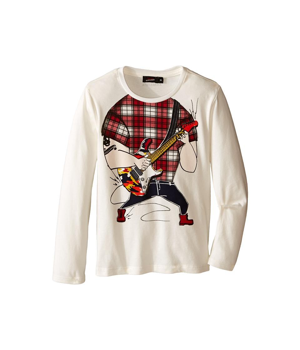 Junior Gaultier - Guitarist No Head Tee Shirt (Toddler/Little Kids) (Cream) Boy's T Shirt