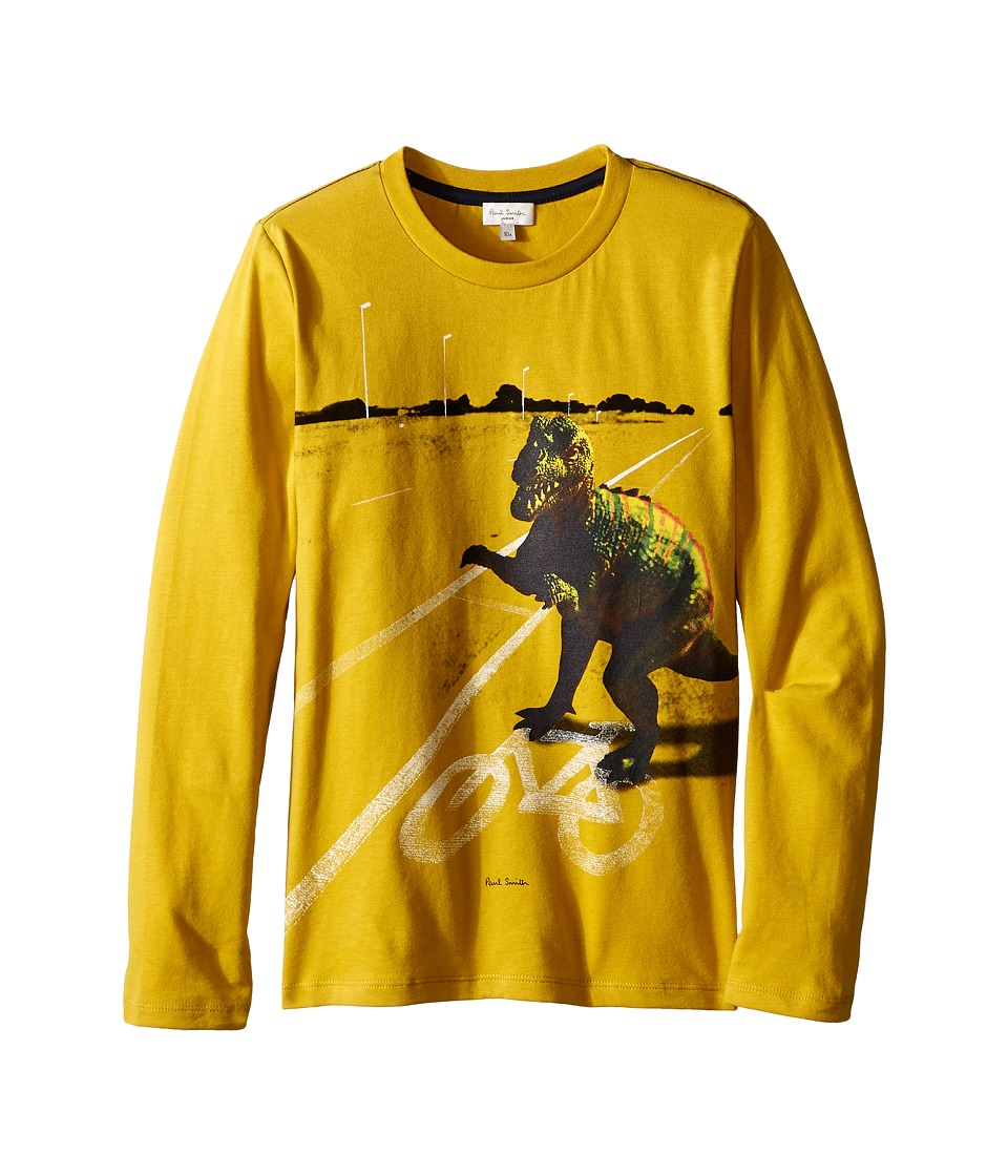Paul Smith Junior - Dino Printed Tee Shirt (Big Kids) (Mustard) Boy's T Shirt
