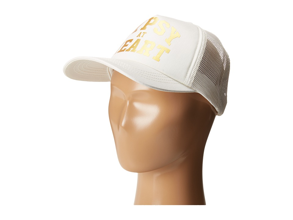 Billabong Kids - Gypsy Heart Trucker Hat (Little Kids/Big Kids) (White Cap) Caps