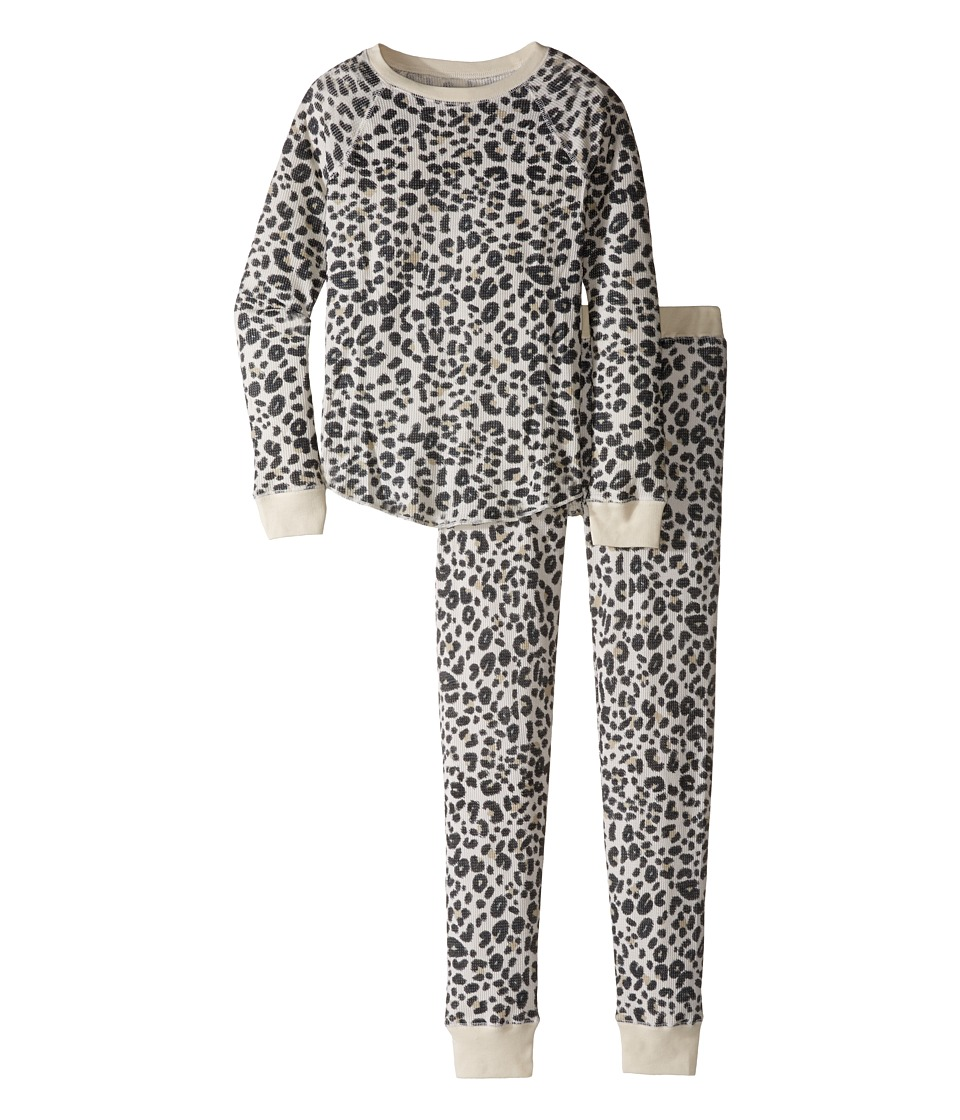 Billabong Kids - Lazy Dayz Thermal Set (Little Kids/Big Kids) (Cheetah) Girl's Pajama Sets