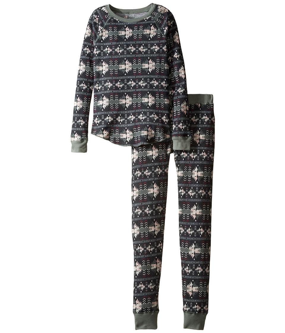 Billabong Kids - Lazy Dayz Thermal Set (Little Kids/Big Kids) (Seagrass) Girl's Pajama Sets
