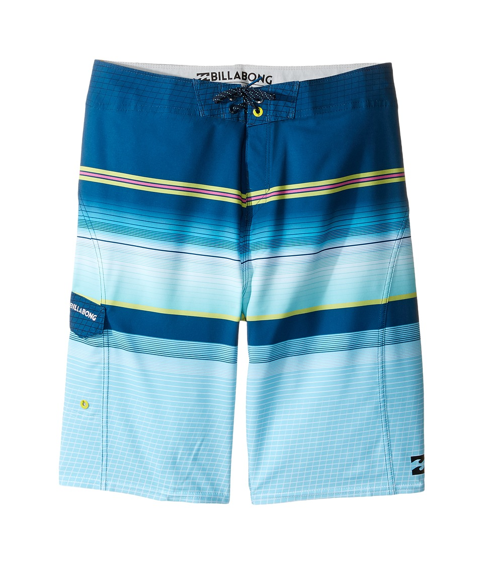 Billabong Kids - All Day X Stripe Boardshorts (Big Kids) (Indigo) Boy's Swimwear