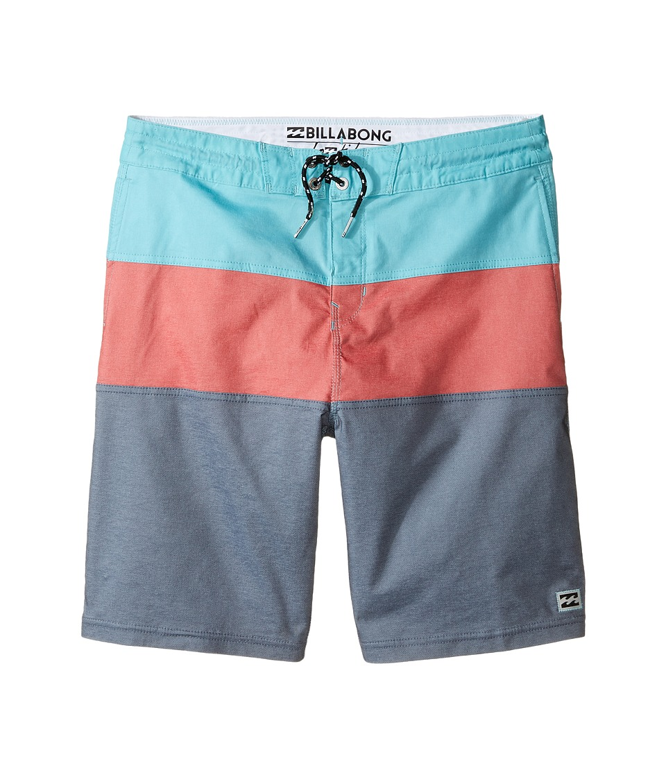 Billabong Kids - Tribong Mash Lo Tides (Big Kids) (Charcoal) Boy's Swimwear