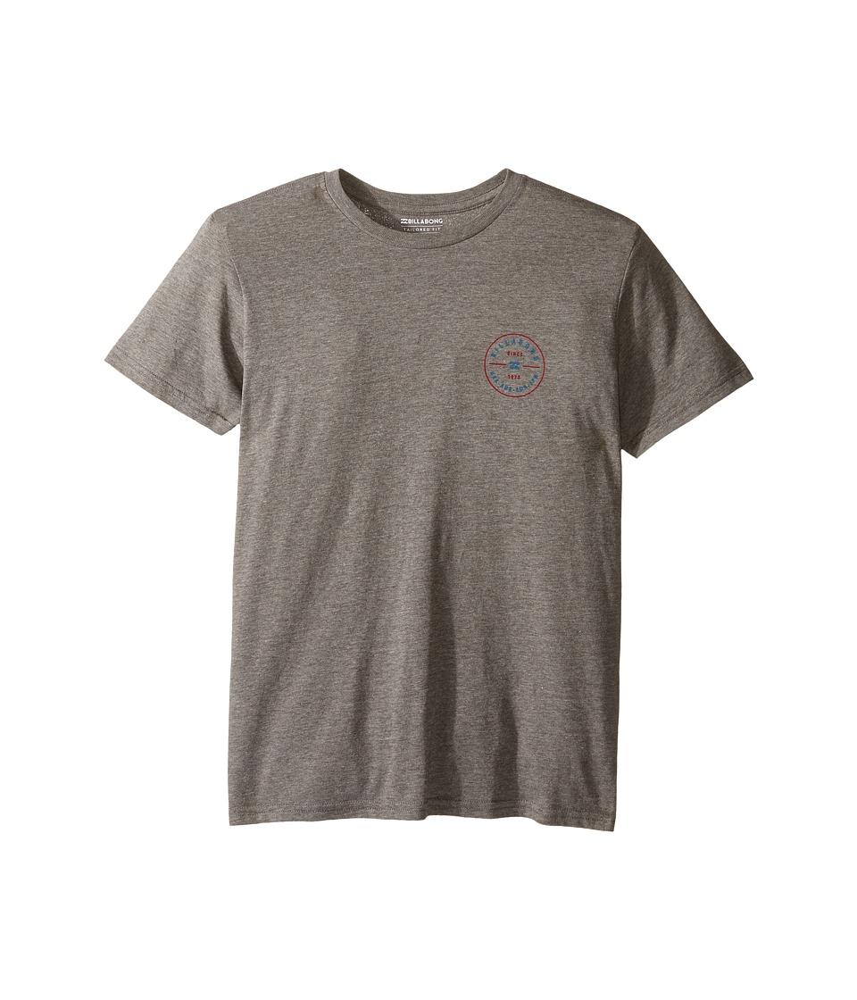 Billabong Kids - Rotor T-Shirt (Big Kids) (Dark Grey Heather) Boy's T Shirt