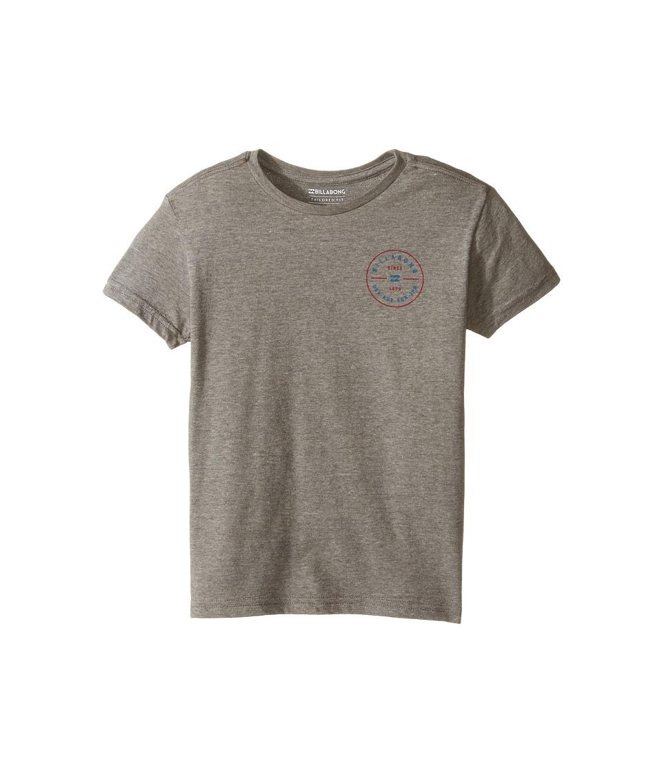 Billabong Kids - Rotor T-Shirt (Toddler/Little Kids) (Dark Grey Heather) Boy's T Shirt