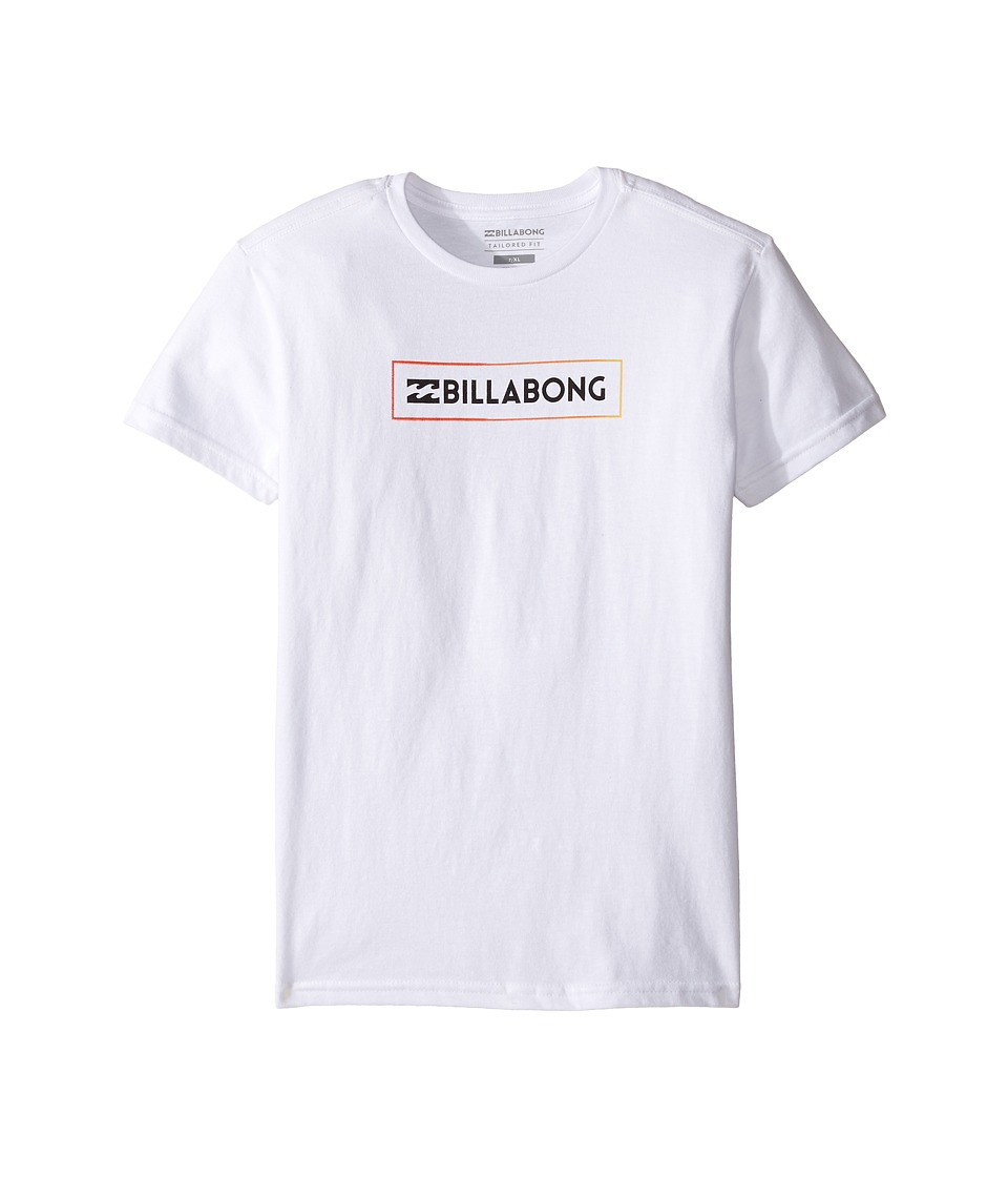 Billabong Kids - Unity Block T-Shirt (Toddler/Little Kids) (White) Boy's T Shirt