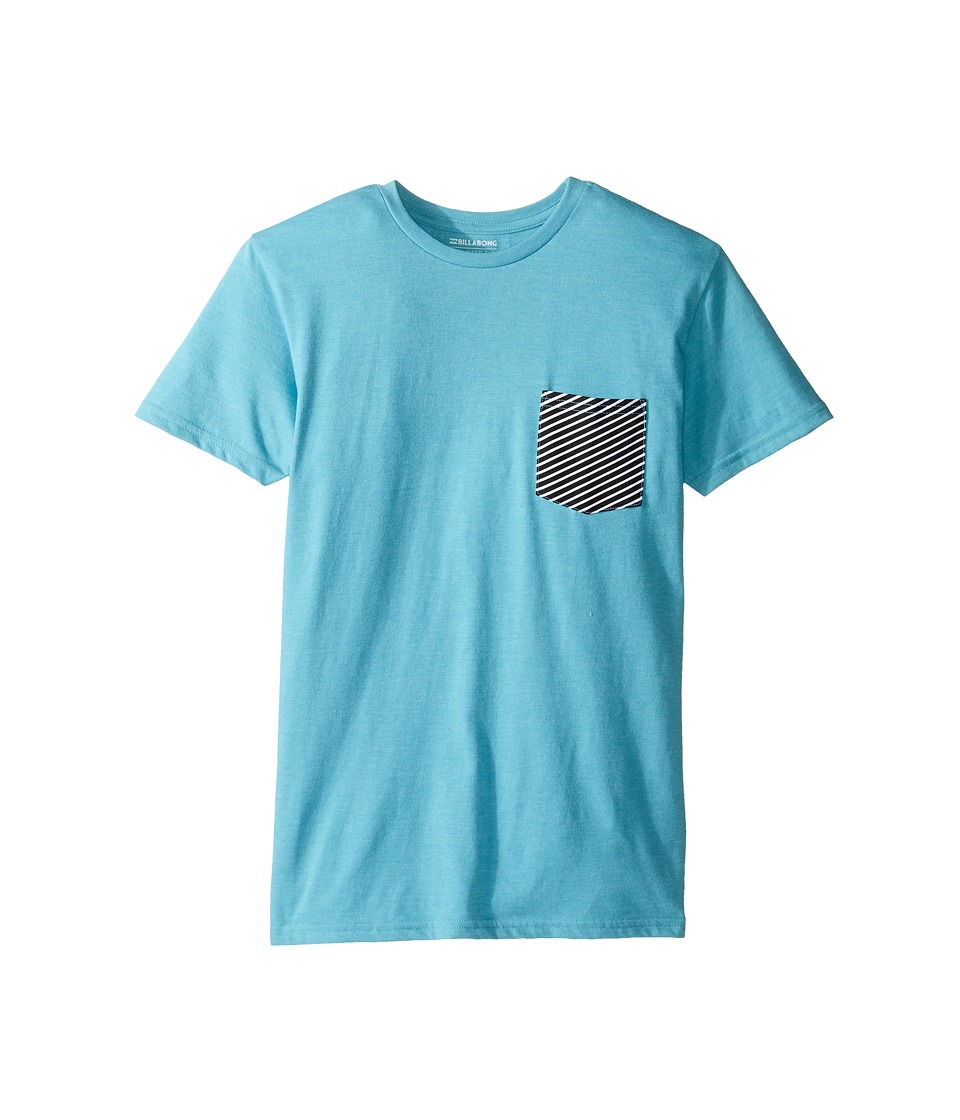 Billabong Kids - Team Pocket T-Shirt (Big Kids) (Aqua Heather) Boy's T Shirt