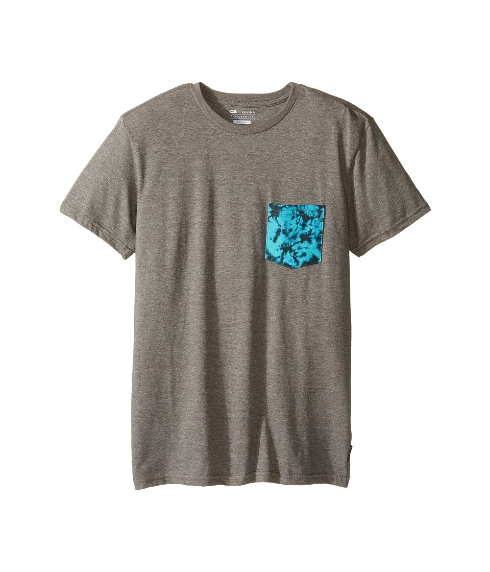 Billabong Kids - Team Pocket T-Shirt (Big Kids) (Dark Grey Heather) Boy's T Shirt