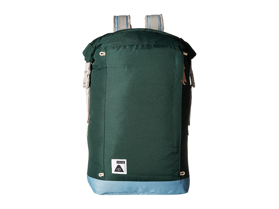 Poler - Rolltop Backpack (Dark Green) Bags