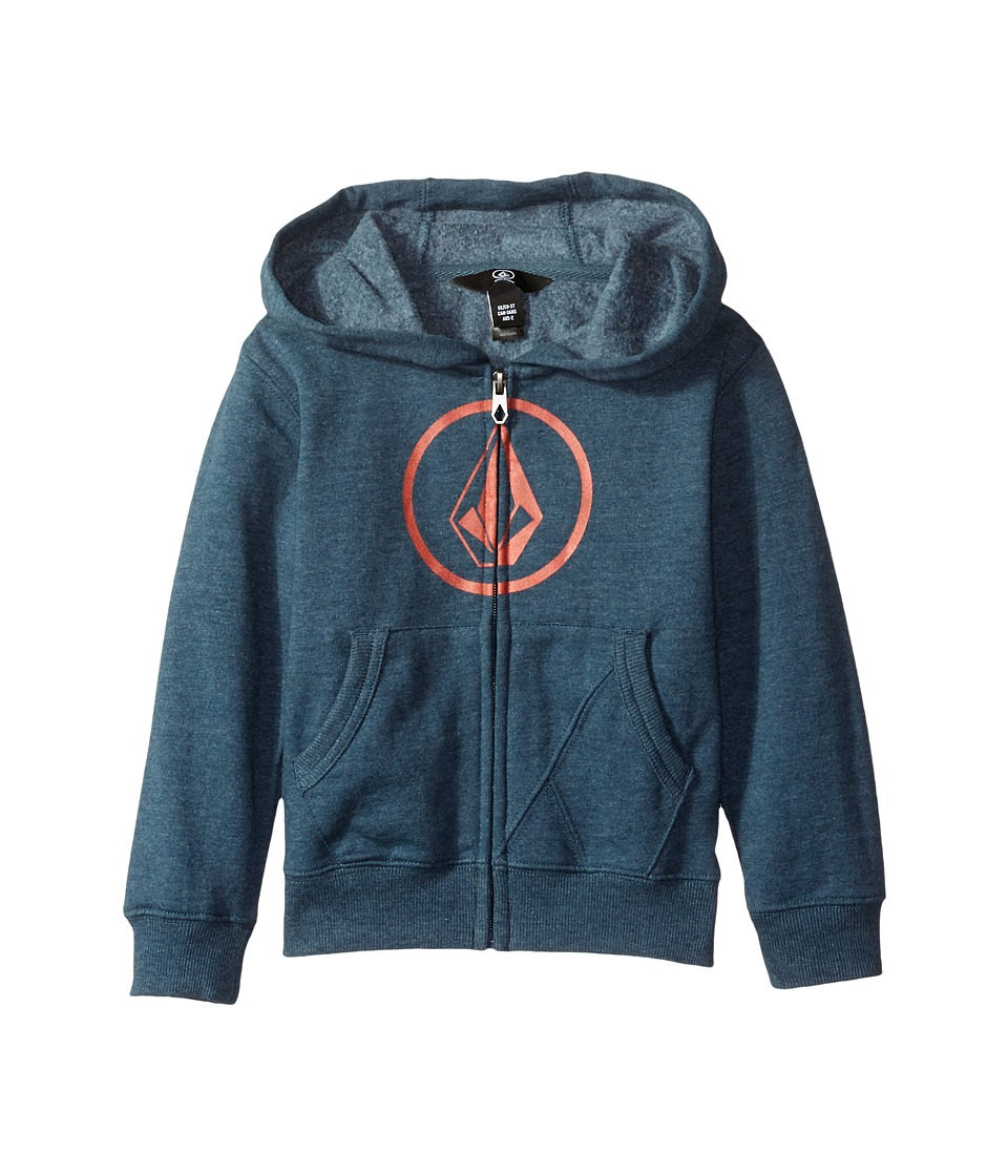 Volcom Kids - Stone Zip (Toddler/Little Kids) (Air Force Blue) Boy's Sweatshirt