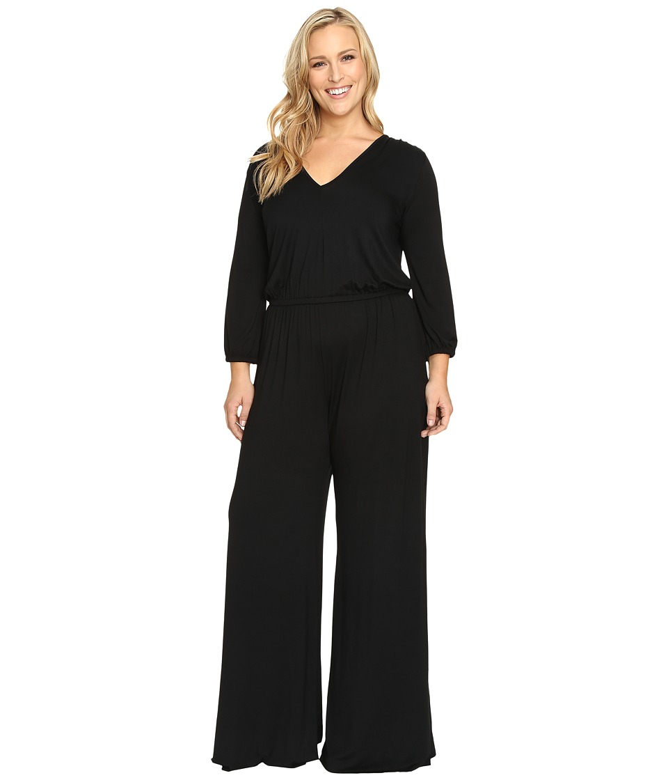 Rachel Pally Plus - Plus Size Clancy Jumpsuit White Label (Black) Women's Jumpsuit & Rompers One Piece
