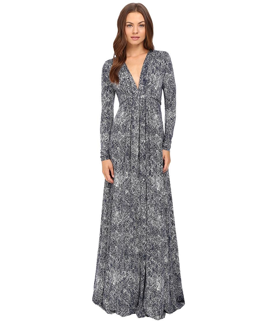 Rachel Pally - Long Sleeve Full Length Caftan Dress (Nightfall Kinetic) Women's Dress