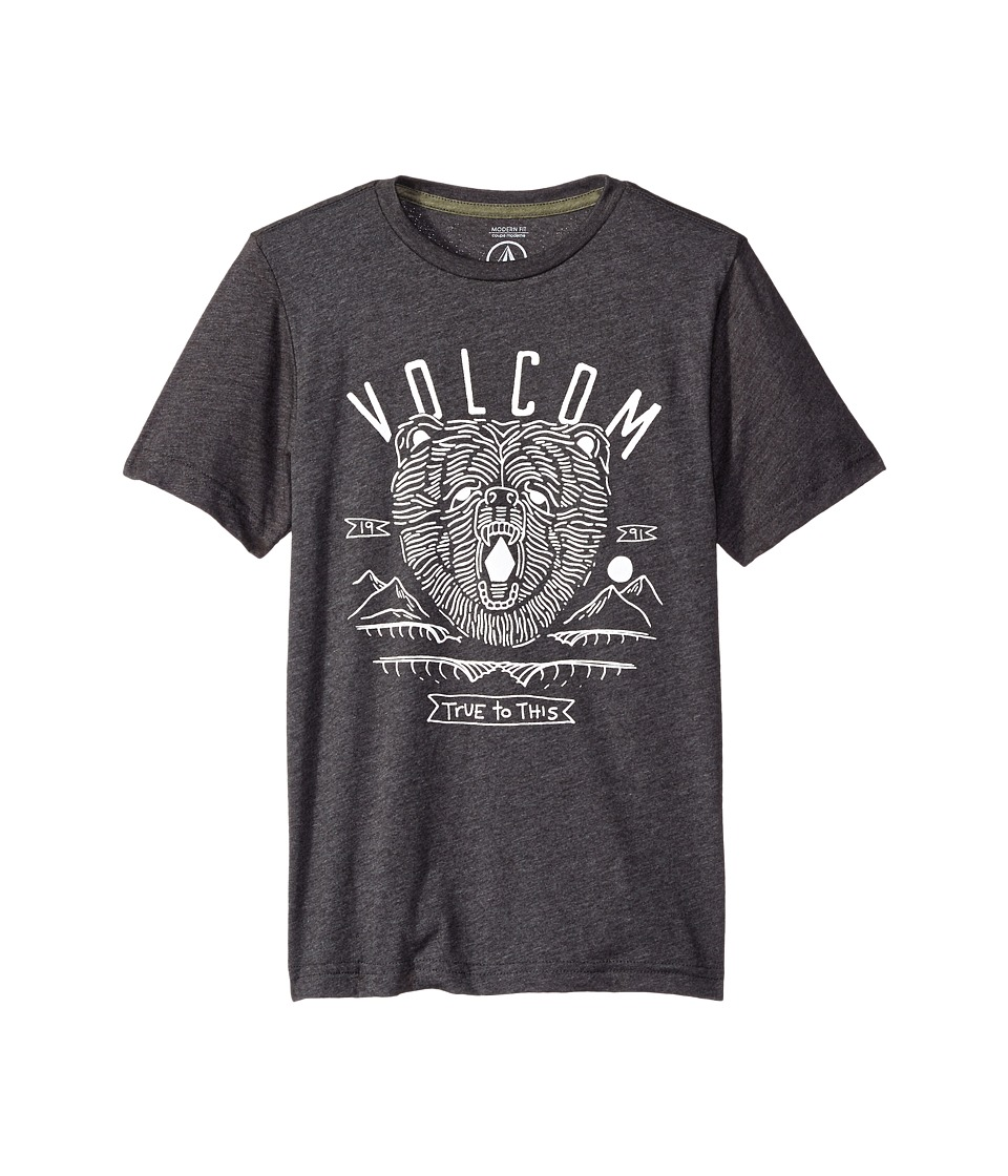 Volcom Kids - Grills Short Sleeve Tee (Big Kids) (Black Heather) Boy's T Shirt