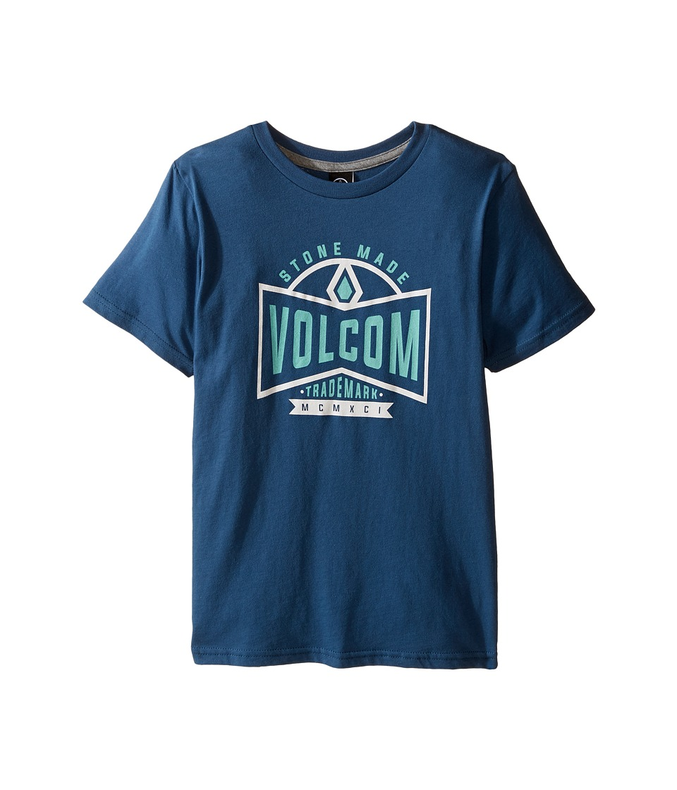 Volcom Kids - Scouter Short Sleeve Tee (Toddler/Little Kids) (Blue Smoke) Boy's T Shirt